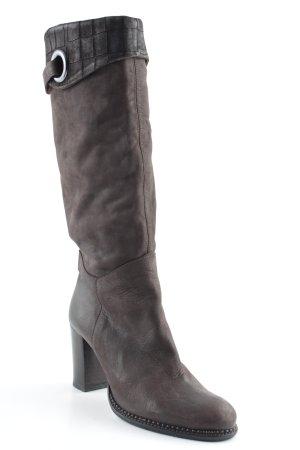 Vera Gomma High Heel Stiefel hellbraun-braun Street-Fashion-Look