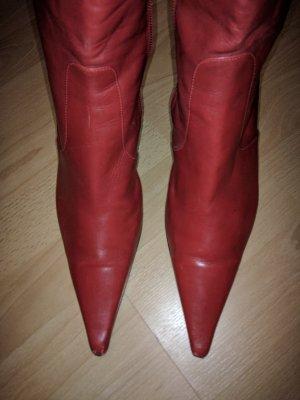 Vera Gomma Italy rote Leder Stiefel