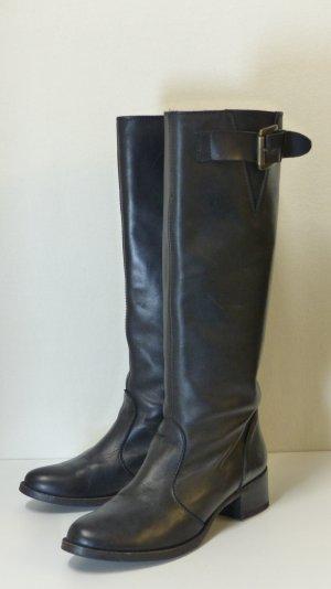 Vera Gomma Jackboots black leather