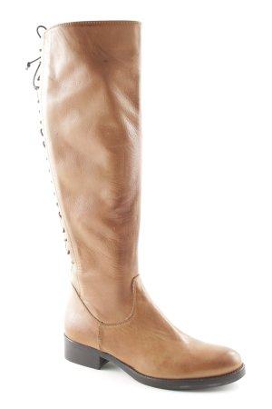 Vera Gomma Botas con cordones marrón claro look Boho