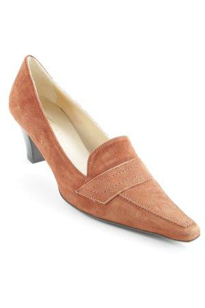 Vera Gomma Loafer marrone-marrone scuro elegante