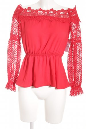 Vera & Lucy Carmen Blouse red street-fashion look