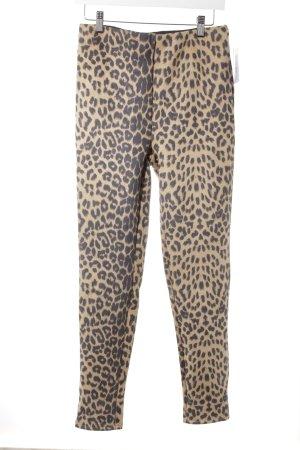 Vera & Lucy Stretchhose beige-schwarzbraun grafisches Muster Animal-Look