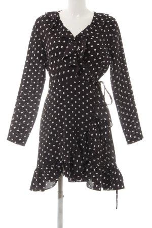 Vera & Lucy Robe portefeuille noir-blanc motif de tache Aspect enroulé