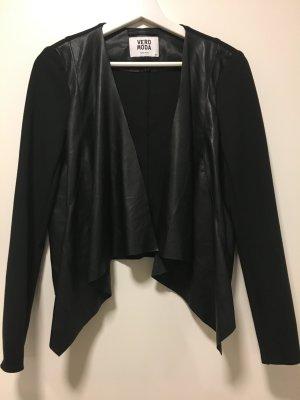 VERA MODA Jacke mit Lederbesatz, Größe XS