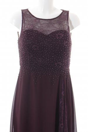 Vera Mont A-Linien Kleid bordeauxrot-purpur Elegant