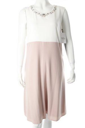 Vera Mont A-Linien Kleid weiß-altrosa Eleganz-Look