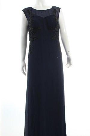 Vera Mont Abendkleid dunkelblau florales Muster Eleganz-Look