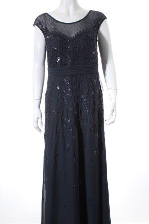 Vera Mont Abendkleid dunkelblau Paillettenverzierung