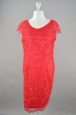 Vera Mont Abendkleid mit Spitze rot Größe 44