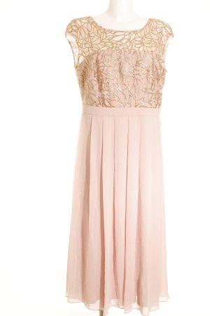 Vera Mont Abendkleid rosé-goldfarben Glitzer-Optik