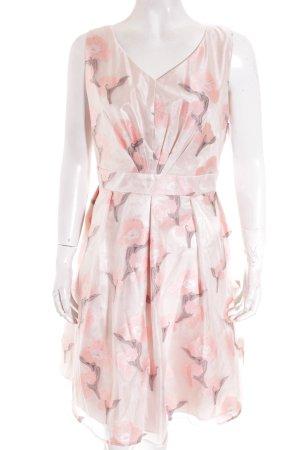 Vera Mont Abendkleid rosé-silberfarben florales Muster Elegant