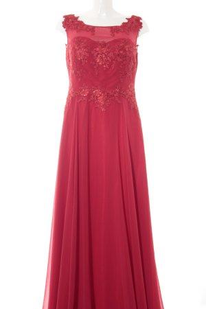 Vera Mont Vestido de noche rojo estampado floral elegante