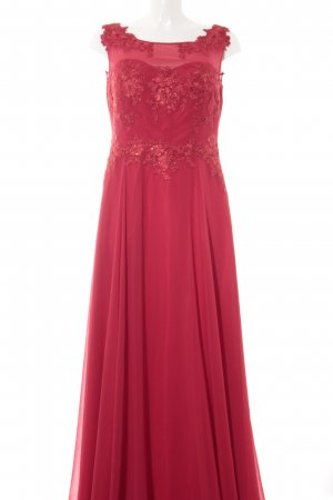 Vera Mont Abendkleid rot Blumenmuster Elegant