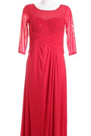 Vera Mont Abendkleid rot Glitzer-Optik