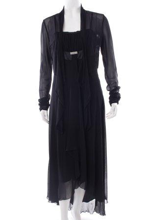 Vera Mont Abendkleid schwarz Glitzersteinverzierung