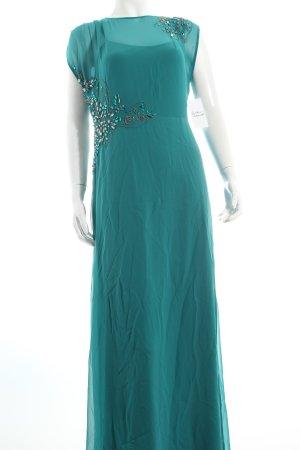 Vera Mont Abendkleid türkis Perlenverzierung
