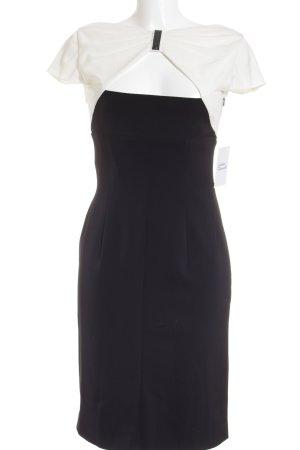 Vera Mont Abito da ballo nero-bianco sporco color block elegante