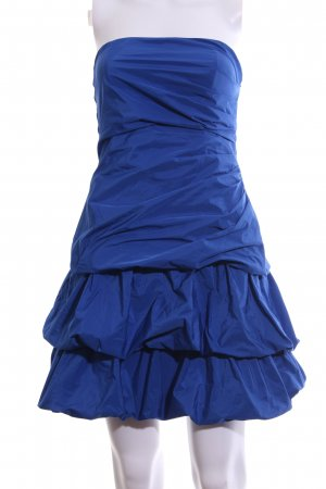 Vera Mont vestido de globo azul estilo fiesta