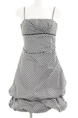 Vera Mont Balloon Dress black-white check pattern elegant