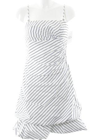 Vera Mont Ballonkleid weiß-blau Streifenmuster Elegant