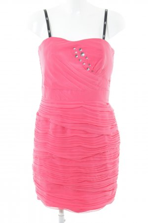 Vera Mont Bandeau Dress pink allover print party style