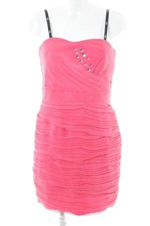 Vera Mont Bandeaujurk roze volledige print feest stijl
