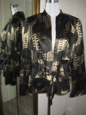 Vera Mont Blazer Jacket schwarz gold Gr.44