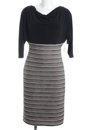 Vera Mont Bleistiftkleid schwarz-beige Streifenmuster Elegant