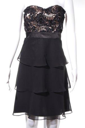 Vera Mont Vestido bustier negro-nude elegante