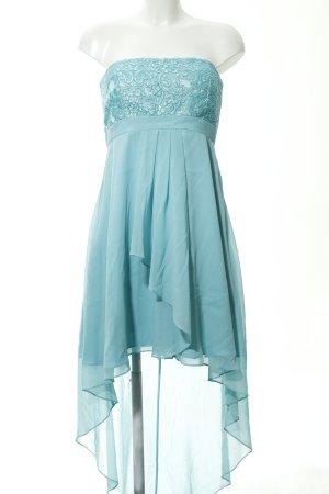 Vera Mont Vestido bustier turquesa estampado floral elegante