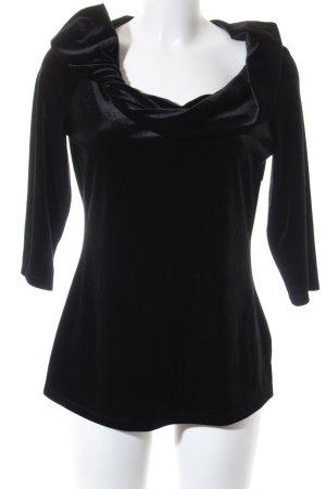 Vera Mont Carmen-Bluse schwarz klassischer Stil