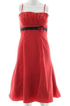 Vera Mont Cocktailkleid rot-schwarz Elegant