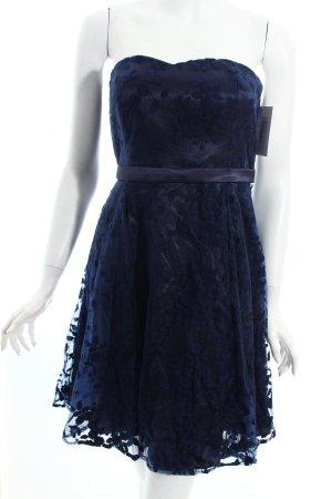 Vera Mont Cocktailkleid dunkelblau Spitzen-Optik