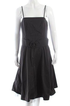 Vera Mont Cocktailkleid schwarz Schnallenelemente