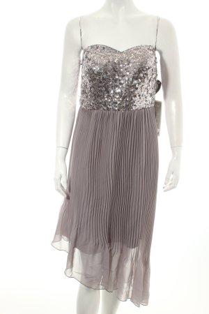 Vera Mont Vestido corsage gris-color plata estilo fiesta