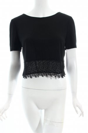 Vera Mont Cropped Shirt black classic style
