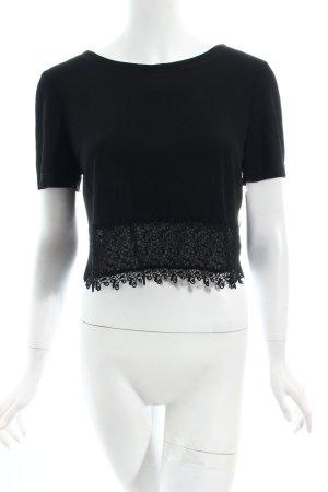 Vera Mont Cropped Shirt schwarz klassischer Stil