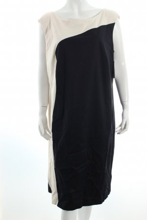 Vera Mont Etuikleid schwarz-creme Colourblocking klassischer Stil