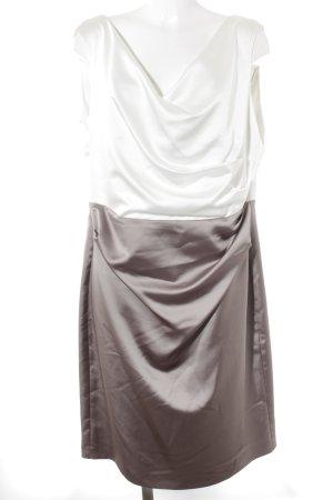 Vera Mont Etuikleid weiß-graubraun Business-Look