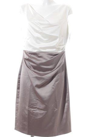 Vera Mont Etuikleid weiß-hellbraun Elegant