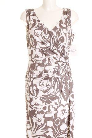 Vera Mont Etuikleid wollweiß-grüngrau florales Muster Casual-Look