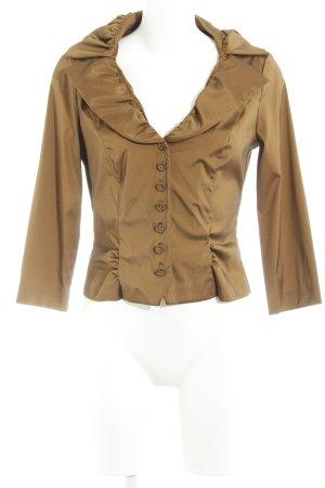 Vera Mont Glanzende blouse brons Jaren 80 stijl