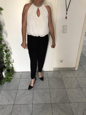 Vera Mont Jumpsuit mit Collierkragen Größe 40 in schwarz-weiß