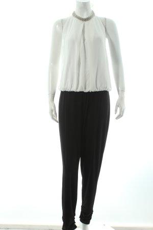 Vera Mont Jumpsuit weiß-schwarz klassischer Stil