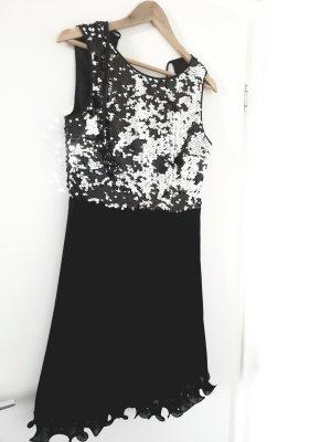 Vera Mont Abito con paillettes nero-argento