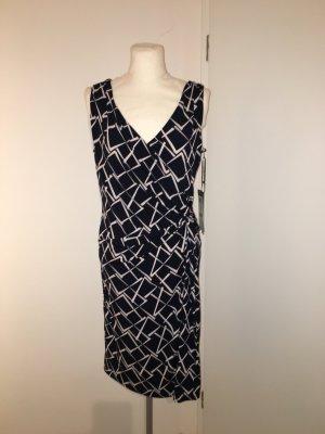 Vera Mont Kleid Gr.42 NEU blau weiß