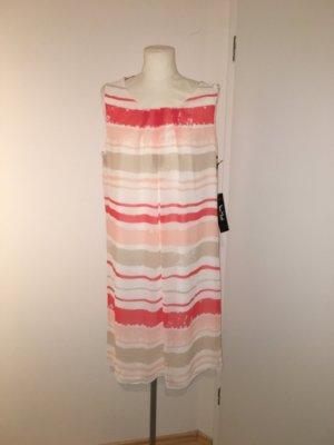 Vera Mont Kleid Gr.46 NEU gestreift weiß rot