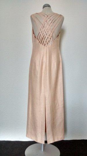 Vera Mont Kleid rückenfrei Gr. 40 M L peach apricot lang Maxikleid