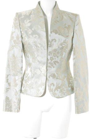 Vera Mont Tailleur gris vert-doré motif floral style d'affaires